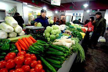 天津市:蔬菜价格出现季节性上涨 ()