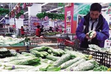 """山东泰安:蔬菜价格""""遇冷""""下降 ()"""