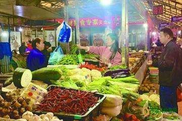 益阳:时令蔬菜上市 价格略有上涨 ()